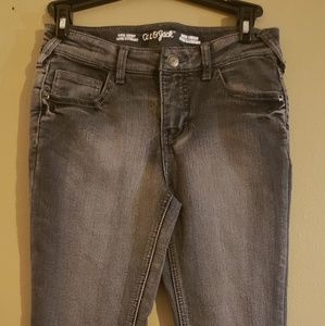 Cat and jack skinny jeans black faded size 10 girl